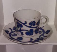 Arabian BR-mallin kahvikuppi Lyydia Savi, Bone China, Finland, Cupboard, Kitchen Decor, Tea Cups, Tableware, Vintage, Design