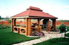 Wooden Summer House, Gazebo, Outdoor Structures, Kiosk, Pavilion, Cabana