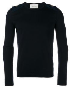 GUCCI Gold Embellished Knitted Sweater