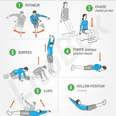 WOD 536 Burpees, Tabata, Cardio, Hit Home, Workout Programs, Fitness, Sports, Full Body, Physical Exercise
