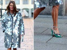 Anna Dello Russo a Milano durante la fashion week di gennaio (Instagram)