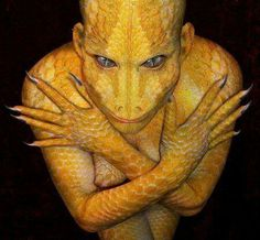 Los reptiloides o reptilianos,serían una raza proveniente de los Draconianos.Supuestos reptiles humanoides que juegan papel destacado en la ufología y en llamadas teorías de conspiración modernas.Como supuesto origen se plantea la evolución de una raza inteligente en Tierra y paralela a la humanidad,de origen extraterrestre o intraterrestre,entidades sobrenaturales o los restos de una antiquísima civilización pre-humana.