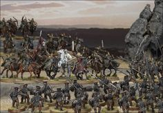 The Lord of the Rings: Getting Started Lotr Games, Helms Deep, Greek Statues, Battle Games, Game Workshop, Military Diorama, Fantasy Miniatures, Infant Activities, Middle Earth