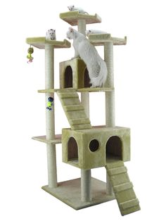 Armarkat Cat tree Furniture Condo, Height -70-Inch to 75-Inch ** Want additional info? Click on the image.