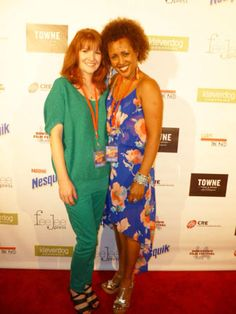 """Sarah Pettycrew and Yetem Kefale Worku on the red carpet for """"Life at the Resort"""" at the Downtown Film Festival Los Angeles 2012."""