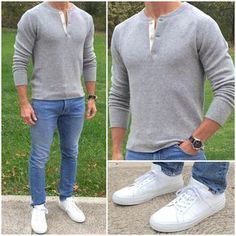 I'm a big fan of this sweater henley. It gives you the masculine look of a henle… I'm a big fan of this sweater henley. It gives you the masculine look of a henley, but it's a wool b… – Favoritt motetips Stylish Mens Fashion, Big Men Fashion, Best Mens Fashion, Stylish Man, Fashion Fashion, Fashion Shoes, Fashion Trends, Men Dress Up, Trendy Outfits