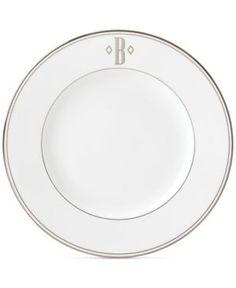 Lenox Federal Platinum Monogram Block Dinner Plate - White