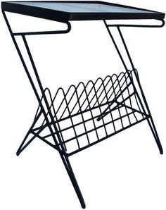 23 best furniture images chairs midcentury modern armchair  one kings lane vintage metal magazine rack side table