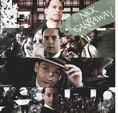 Nick carraway is kind of in his own world in this book, he doesn't get involved with everyone he's more to himself and stays away from all the drama.