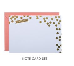 Webster Cheers, Note Card Set -- I want to try and recreate these using stamps!