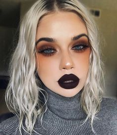 Vampir Make-up Vampire makeup Miladies net - Makeup Tutorial Smokey Bold Makeup Looks, Simple Makeup, Glam Makeup Look, Creative Makeup Looks, Glamorous Makeup, Gorgeous Makeup, Natural Makeup, Makeup Looks Tumblr, Creative Eyeliner