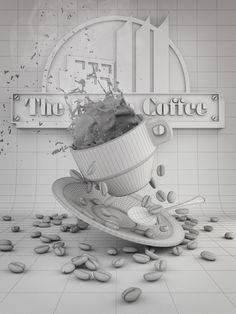 The Italian Coffee Company by Antonio Luna, via Behance