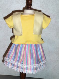 Shirt with vest & skirt fits america dolls by CarolinaDollClothes, $8.00