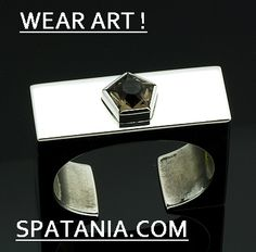 Sterling silver box cuff set with star cut topaz by Frank Patania Jr. #WEARART!