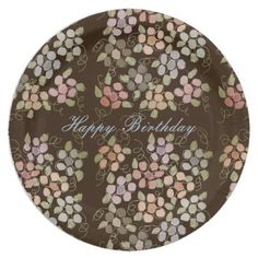 Pretty Pastel Flowered Paper Birthday Decor Paper Plate - birthday gifts party celebration custom gift ideas diy