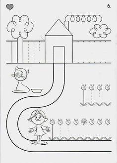 Preschool Writing, Kindergarten Worksheets, Worksheets For Kids, Educational Activities, Preschool Activities, Paper Embroidery, Embroidery Dress, Pre Writing, Toddler Learning