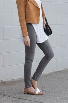 suede-jacket,-grey-jeans