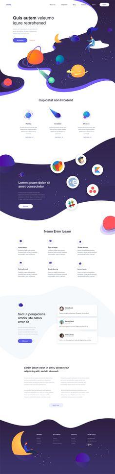 Design Website Landing Page Ideas Cool Web Design, Beautiful Website Design, Web Design Tips, Design Tutorials, Page Layout Design, Website Design Layout, Web Layout, Design Responsive, Wordpress Theme Design