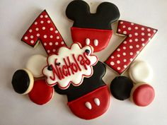 Mickey Mouse Cookie Favors by LittleBirdiesCookies on Etsy, $30.00