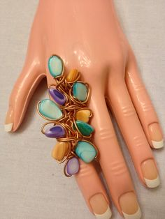 large statement ringcopper and mother of pearl by ShiriDaniella, $42.00