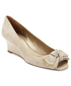 Need nude bridesmaid shoes! Bandolino Shoes, Goldco Wedges - Pumps - Shoes - Macy's