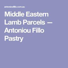 Middle Eastern Lamb Parcels — Antoniou Fillo Pastry
