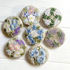 集合写真 たまには、揃ったとこ。 #刺繍ブローチ #embroidery