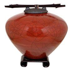 Small Raku Ceramic Urn for ashes - Dodero Studio Ceramics