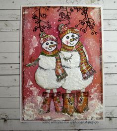 You've just GOT to love Susie's snowman creation!  Free smiles!!  WT560 Snowdude and dudette