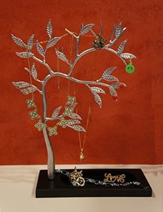 Zoohu Sculpted Jewelry Tree - Metal Necklace Holder / Jewelry Organizer / Jewelry Holder / Jewelry Display