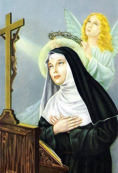 Sainte Rita de Cascia (G) Santa Rita De Cascia, St Rita Of Cascia, Christian Posters, Christian Art, Oracion A Santa Rita, Sta Rita, Saint Esprit, Religious Pictures, St Therese