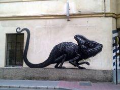 Otro mural de ROA en España