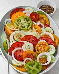 Tomato, Cucumber and Sweet Onion Salad with Cumin Salt Recipe