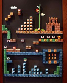 Fantastic 8-Bit Super Mario Paper Craft Magnetic Board |Gadgetsin