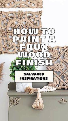 Diy Furniture Renovation, Furniture Fix, Furniture Makeover, Painted Furniture, Home Crafts, Diy Home Decor, Diy Crafts, Faux Wood Paint, Chalk Paint