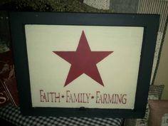 Faith Family Farming Old Wooden Window