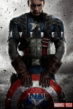 Captain America movie poster.