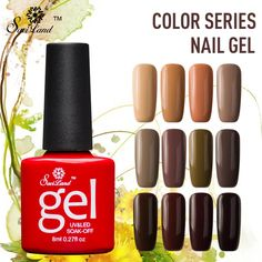 Best Saviland Brown Series Colors Nail Gel Polish Soak Off Long Lasting UV Led Semi Permanent 12. Click visit to check price