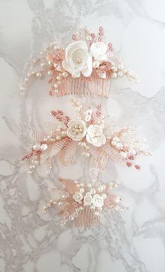 65 ideas wedding hairstyles with veil diy bridal headpieces Veil Diy, Diy Wedding Veil, Hair Comb Wedding, Wedding Hair Pieces, Headpiece Wedding, Bridal Headpieces, Wedding Dress, Or Rose, Rose Gold