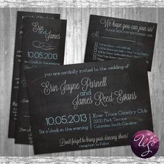 3PC Printable Wedding Invitation Whimsical by WhimsicalStationary, $28.00