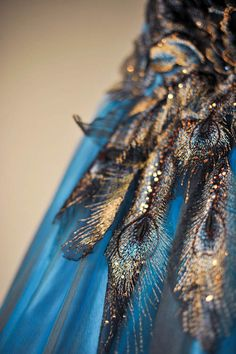 Peacock Themed Non-Traditional Destination Wedding Dress