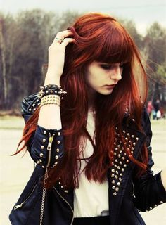 Copper red hair color, incredible nice look
