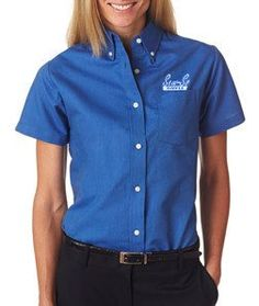 Company Embroidered On Down Shirts For Men And Women