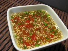 Vietnamese Dipping Sauce (Nuoc Cham) from Food.com:   								This sauce is delicious on just about anything including plain white rice. Wonderful on grilled shrimp. It is the sauce used for the Grilled Vietnamese Jumbo Shrimp on Sugarcane Sticks that I posted. Great recipe with many variations!
