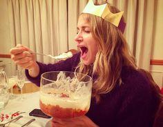 """Half way through my not so personal sized English trifle English Trifle, Shantel Vansanten, The Flash, Breakfast, Instagram Posts, Oc, Happy Birthday, Morning Coffee, Happy Brithday"