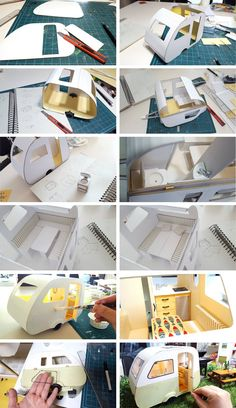 Paper model template for dollhouse furniture | Barbie Doll ...