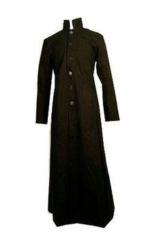 Mens Redballs Long Black Floor Length Gothic Matrix Trench Coat Size 40 | eBay