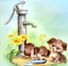 thirsty pups