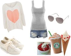 """just a little stop at pinkberry and starbucks..."" by lachgummix2 ❤ liked on Polyvore"