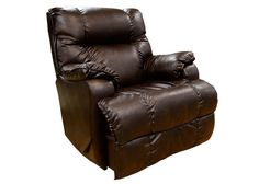 8413 Rancho Coffee Comfort King Pad-Over-Chaise Rocker/Recliner